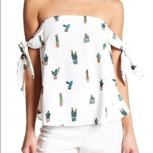 BNWT Do + Be Cactus Off-the-Shoulder Blouse